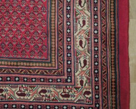 Vivid Boteh Flamed All-Over Persian Hand-Knotted 7x10 Red Mir Wool Area Rug image 3