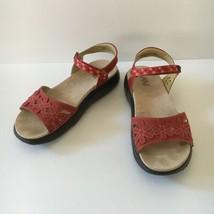 JBU by Jambu Women's Red Wildflower Vegan Sandals Size 8.5 M - $29.67