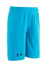 NWT Under Armour Boys Blue Shorts 4T Deceit Kick Off Solid - $12.99