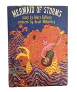 Mermaid Storms Mary Calhoun Illustrated Vintage Children's Book Story Me... - $29.69