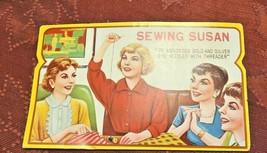 Vintage Sewing Susan Needles 70 Gold Eye Needles Missing Threader & some needles image 2