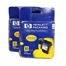 Lot of 2 HP 10 Printer Ink Cartridge Color Yellow c4843a 2000c 2500c - $12.55