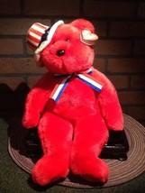 "Vintage - TY Beanie Buddy Plush - Sam Red 14"" Teddy - 2004 - $9.85"