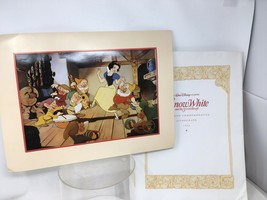 Disney 1994 Snow White  Commemorative Lithograph With Matting & Envelope... - $12.11