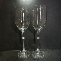 "2 (Two) MIKASA DUET Lead Crystal Water Glasses 10 1/8"" DISCONTINUED - $27.54"