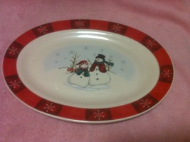 ROYAL SEASONS PLATTER--SNOWMEN----CHRISTMAS----FREE SHIP--VGC - $31.69