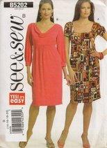 Butterick See & Sew B5202 Misses Dress Size B (14-20) - $7.69