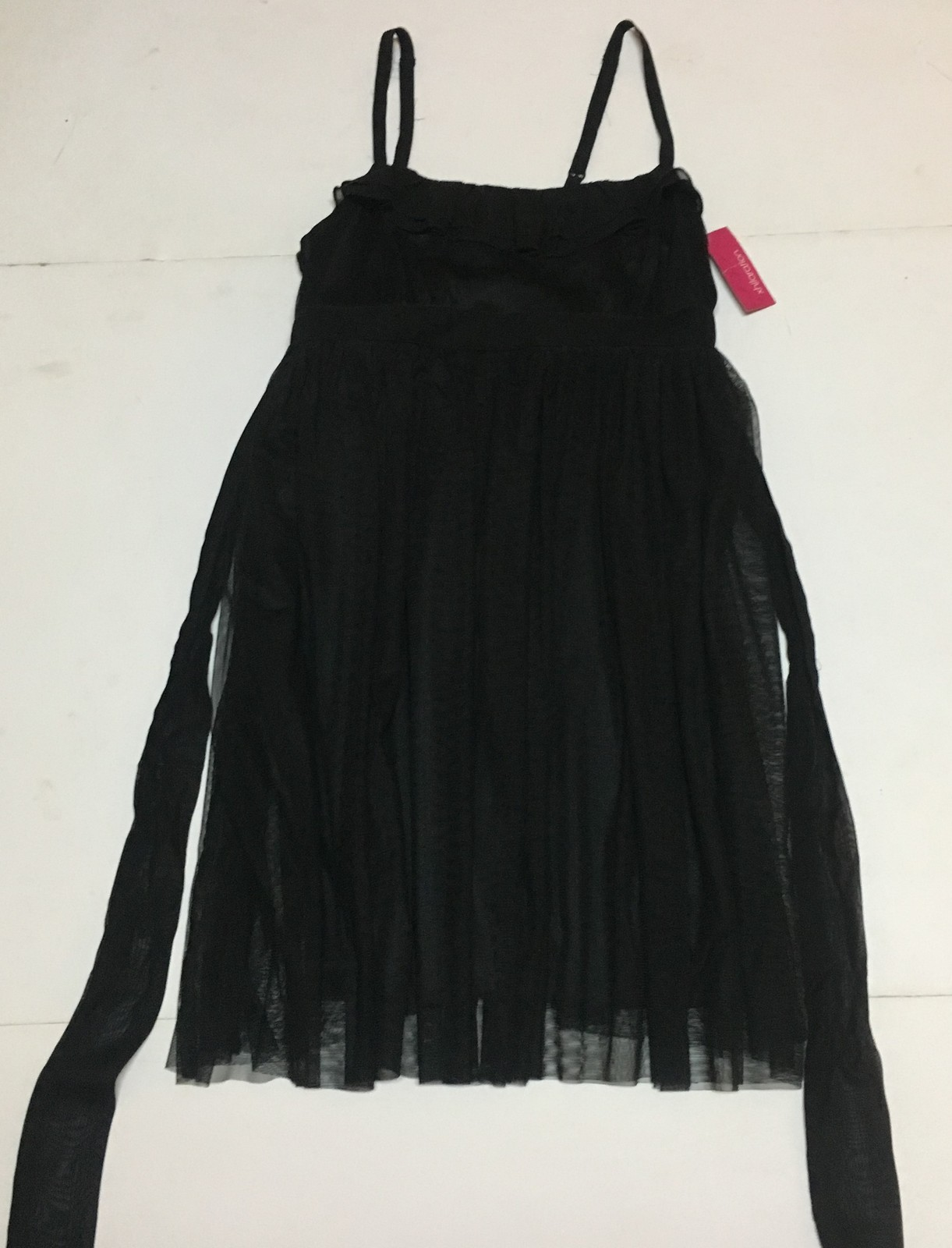 Xhilaration Black Dress Skinny Strap Summer Dress Sz L