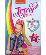 JoJo Siwa 32 Valentines with 32 Glitter Tattoos - $7.99