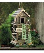 BIRDHOUSES: Rustic Loft Ranger Station Bird House Log Cabin Outdoor Decor - $21.99