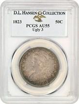 1823 50c PCGS AU55 (Ugly 3) ex: D.L. Hansen - Scarce Variety - Bust Half... - $5,499.90