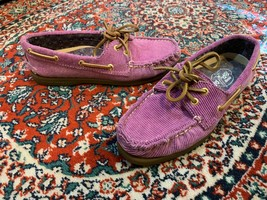Sperry Top-Sider Boat Deck Berry Purple Corduroy 6.5 M Flats Mocc ASIN S Ln - $17.99