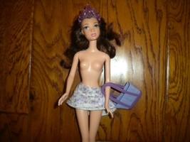 Mattel Barbie Lavender Mini Skirt, Lavender Handbag & Crown 3 Piece Clot... - $6.92