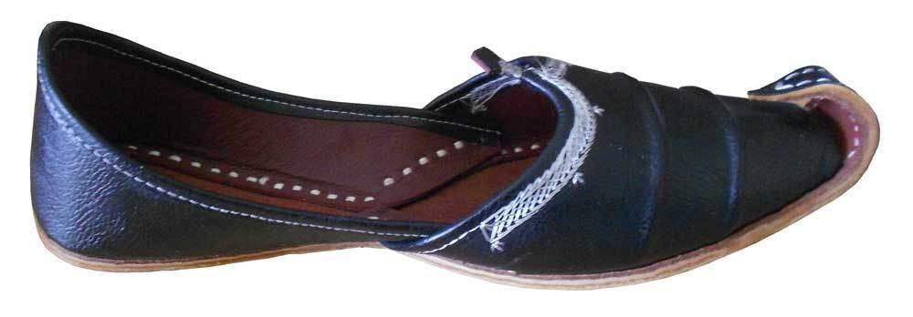360f9f6df9a30 ... Traditional Handmade Men Shoes Leather Khussa Flip-Flops Mojari US 9 ...