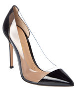 New Gianvito Rossi Black Patent Leather Plexi Pump 35-39 PRICED TO SELL!... - $389.00