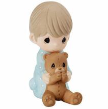 I Pray The Lord My Soul To Keep Precious Moments Figurine Boy Teddy Bear... - $35.63