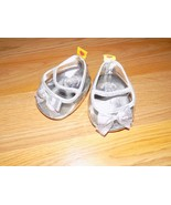 Build A Bear Workshop BAB Clear Glass Slippers Silver Trim Dress Shoes EUC - $12.00