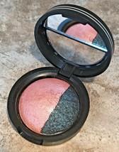 Laura Geller Baked Sateen FRESCO Pink Eyeshadow & MYSTIC SEA Blue Eye Ri... - $8.89