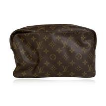 Authentic Louis Vuitton Vintage Brown Monogram Canvas Toiletry 28 Cosmet... - $292.05