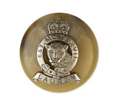 "Ralph Lauren Leopard Crown Metal Plastic Sleeve Pocket Replacement button .60"" - $7.87"