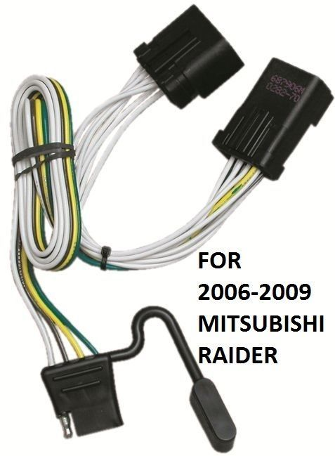 2006-2009 mitsubishi raider trailer hitch wiring kit ... 2007 mitsubishi raider trailer wiring 2007 mitsubishi eclipse radio wiring diagram #4
