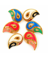 Vintage Avon Paisley Earrings Lot   Mix of Enameled Colors   Retro Sixties Style - €34,66 EUR