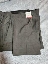 Men's Gray Pants Croft&Barrow Classic Fit Flat front Sits at waist - $14.84
