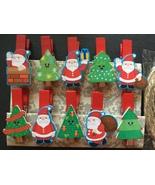 120pcs Santa Claus Christmas Party Favor Decoration,Wooden Clips,Clothespin - $18.00