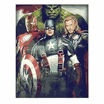Kimily Diy Paint by Numbers for Adults Kids Avengers Diy...  - $14.18