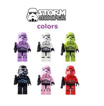 Stormtroopers colors minifigures custom characters set of 6pcs  - $29.99
