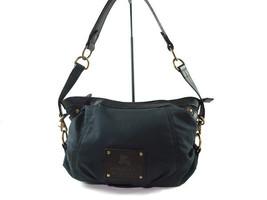 Auth BURBERRY LONDON BLUE LABEL Nylon Canvas, Leather Black Shoulder Bag... - $178.00