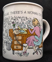 "HALLMARK MUG MATES HUMOR ""RELAX, THERE'S A WOMAN ON THE JOB! COFFEE MUG - $9.89"