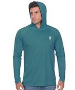 Big and Tall Mens T Shirts - Long Sleeve Dri Fit Fishing Shirt 2XL Turquoise - $29.63