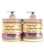 2 Count Hemp Plus 16.9 Oz Hemp Seed & Rose Hip Oil Soothe Hydration Cream - $23.99