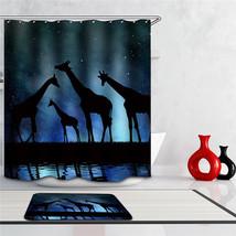 Fabric Animals leopard Shower Curtain Home Bathroom Curtains 3d elephant bear pe image 4