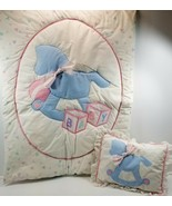Vintage Cothran & Company Rocking Horse Baby Blanket Quilt Comforter and... - $98.99