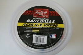 Rawlings 1 Bucket of Recreational Baseballs ages 8 and Under 8 Baseballs... - $12.59