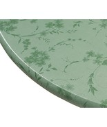 Miles Kimball Floral Swirl Vinyl Elasticized Table Cover, 45 - 56 Inch D... - $12.73
