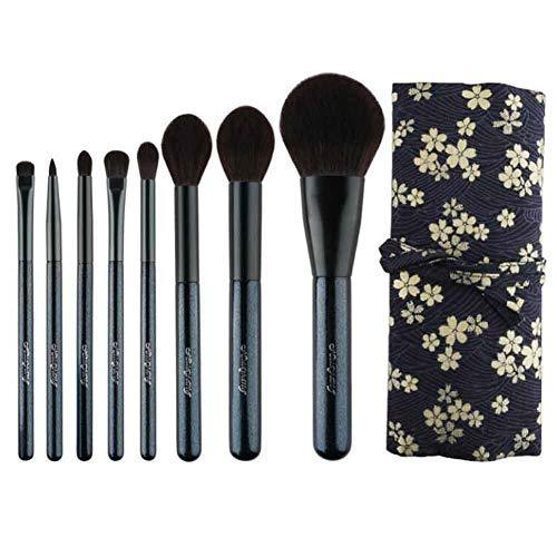 8 Pieces Synthetic Fiber Travel Makeup Brush Set Powder Eye Shadow Cosmetic Tool