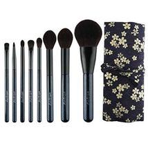 8 Pieces Synthetic Fiber Travel Makeup Brush Set Powder Eye Shadow Cosmetic Tool