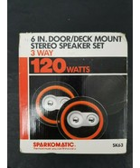 "Vintage Sparkomatic 6"" inch Door/Deck Mount Stereo Speaker Set SK63 New ... - $42.06"