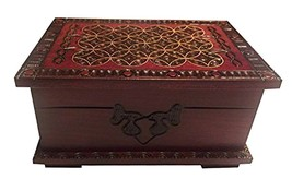 Polish Handmade Celtic Wood Small Chest Secret Lock Puzzle Box Celtic Ke... - €26,11 EUR