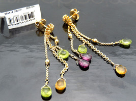 BNwT David Yurman Briola Amethyst Citrine Peridot Earrings in Yellow Gold - $1,000.00