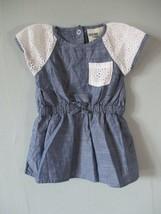 Genuine Kids Oshkosh Girls Sz 3-6M Months Short Sleeve Blue Eyelet Cotto... - $20.00