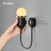 Aisilan LED Wall Lights Bedside Wall Lamp Wall Sconce Nordic Creative Ma... - €51,89 EUR