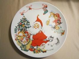 Santa At Tree Collector Plate Charlot Byj 1st Edn. 1973 Goebel Christmas Germany - $19.99