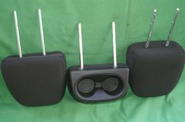 11-15 Dodge Journey 2nd Row Black Cloth 3 Headrests Headrest w/ Cupholder image 9