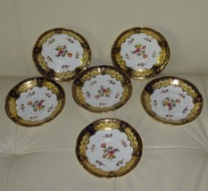 6 Antique Aynsley English Bone China Saucers #4294 with 1891-1905 Stamp - $89.00