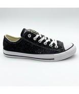 Converse Chuck Taylor All Star Ox Glitter Black Womens Sneakers 566270C - $59.95