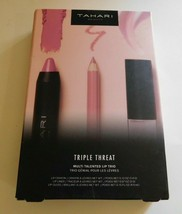 Tahari Beauty Triple Threat Multi Talented Lip Trio in Pink Brand New  - $24.99